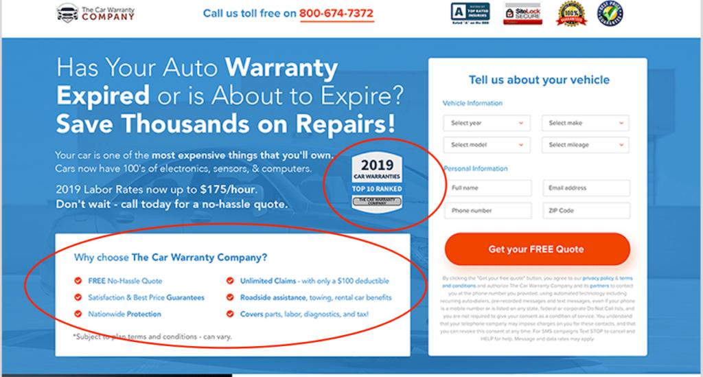 Unique Value Proposition of The Car Warranty Company