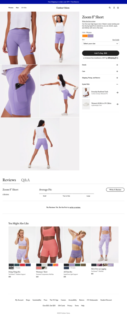 Sample Product Detail Page